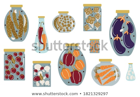 various marinated vegetables in jars stock photo © elly_l