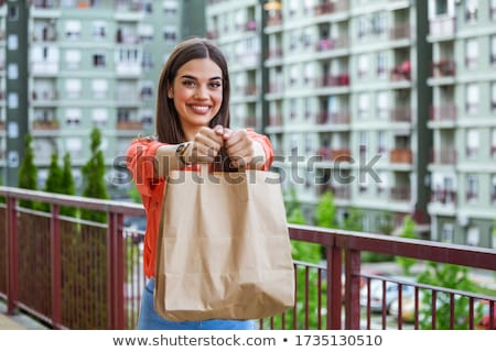 Woman shopping at an outdoor market Stock photo © photography33
