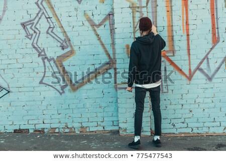 hip-hop · adam · kırmızı · moda · portre · erkek - stok fotoğraf © photography33