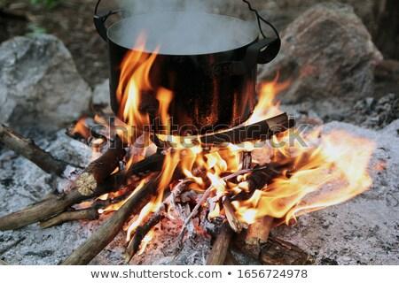 kettle over campfire Stock photo © Mikko