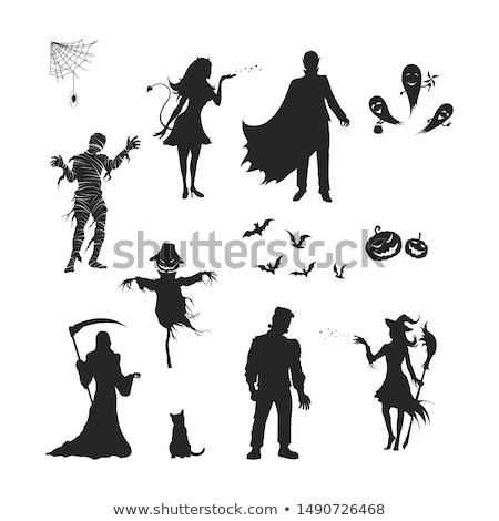 Scary Mummy Silhouette Stock photo © indiwarm