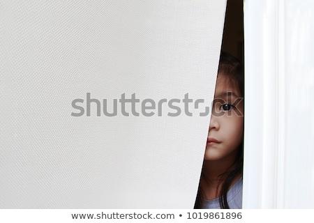 vrouw · staren · venster · volwassen · drinken · koffie - stockfoto © photography33