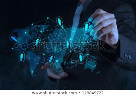 Médias sociaux diagramme informations soutien communication communications Photo stock © stuartmiles
