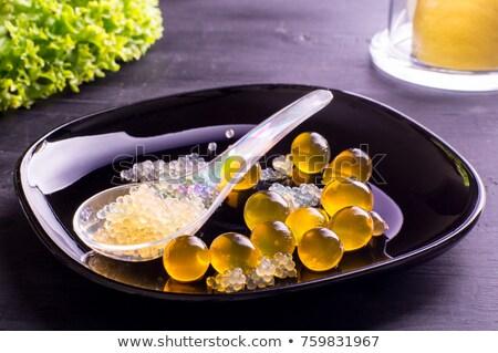 молекулярный пузырьки продовольствие химии десерта ложку Сток-фото © M-studio
