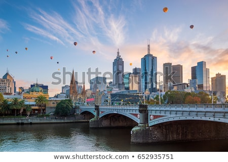 Brücke · Melbourne · Australien · Nacht · Stadt · Metall - stock foto © mroz