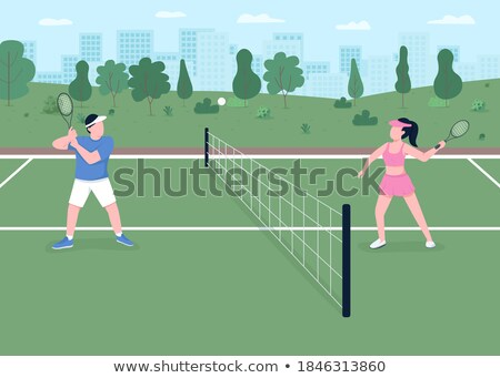 Landscape of tennis couple Stock photo © photography33