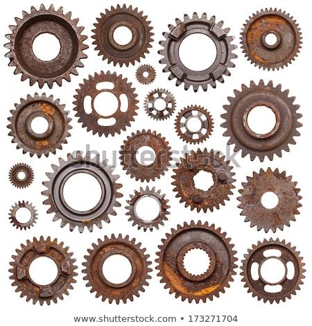 Oude versnellingen stilleven metalen cog versnelling Stockfoto © Stocksnapper