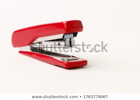 Kırmızı zımba stüdyo fotoğrafçılık ofis yalıtılmış Stok fotoğraf © prill