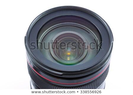 Zawodowych kamery teleobiektyw obiektyw odizolowany biały Zdjęcia stock © Arsgera