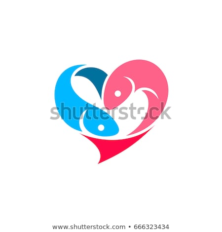 Fishes In Love Stock photo © benchart