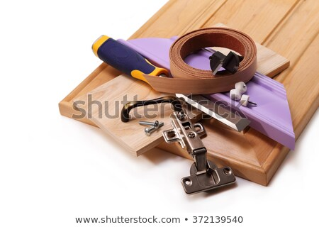 Joiner with cabinet door Stock photo © photography33