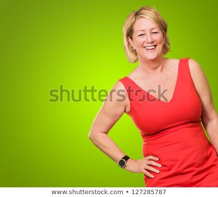 Vrouw heupen shot alle witte Stockfoto © stockyimages