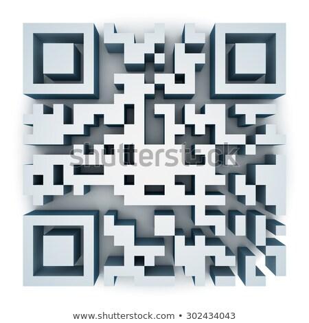 3d qr code (matrix barcode) stock photo © nasirkhan