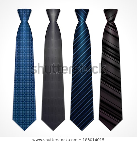 Cravatta set bianco business verde blu Foto d'archivio © vankad