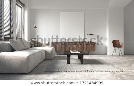 fából · készült · polcok · 3d · render · izolált · fehér · iroda - stock fotó © ssuaphoto