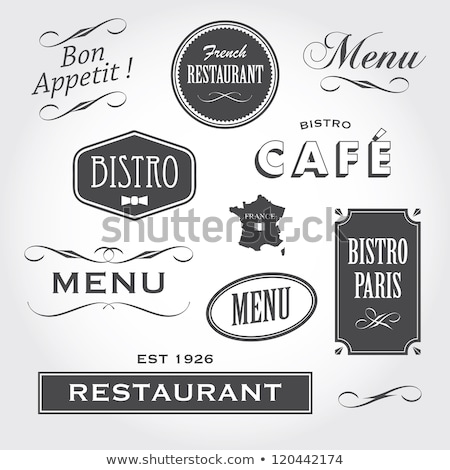 Stockfoto: Vintage Ornaments And Signs French Restaurant
