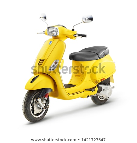 moped · sziluett · tipikus · 1960 · stílus · motor - stock fotó © lirch