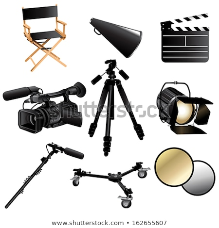 Directors Chair With Clap Board And Megaphone Stockfoto © Artisticco