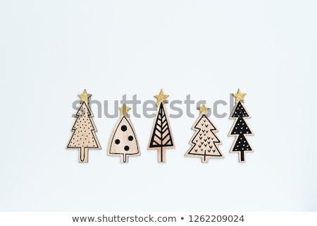 retro wooden christmas set stock photo © cienpies