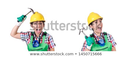 Montage jeunes Homme charpentier affaires construction Photo stock © photography33