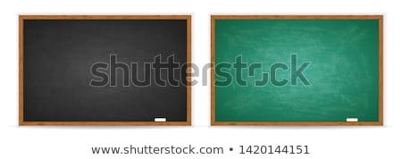 meisje · Blackboard · portret · smart · naar · camera - stockfoto © choreograph