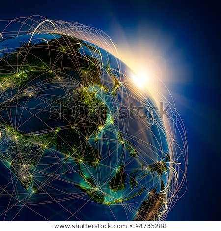 China and Asia, Global Communication Planet Stock photo © fenton