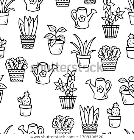 Colorful seamless pattern with cartoon houses stock photo © juliakuz