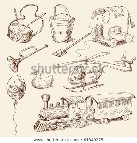 手 図面 おもちゃ ヴィンテージ 飛行機 ベクトル ストックフォト © ikopylov