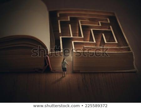 Mazed In the Book Stock photo © ozgur