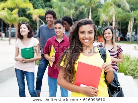 Hispanic Student on campus Stock photo © tangducminh