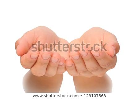Eller birlikte hiçbir şey kadın el Stok fotoğraf © SSilver