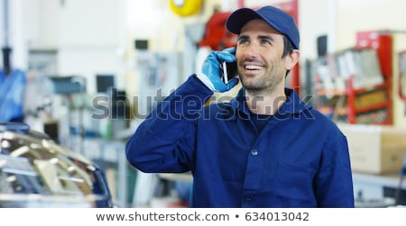young blue collar on the phone Stock photo © photography33
