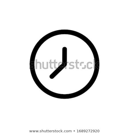 analóg · óra · idő · háló · interfész · ikon - stock fotó © make