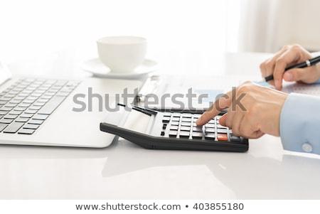 Gastos financieros contabilidad papel banco calculadora Foto stock © Grazvydas