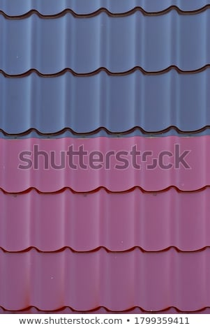 purple metal tile roof stock photo © dbvirago