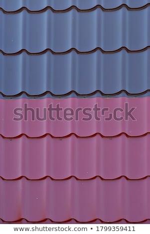 紫色 金属 タイル 屋根 行 ストックフォト © dbvirago