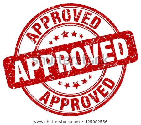 Approved Stamp Stock photo © cteconsulting