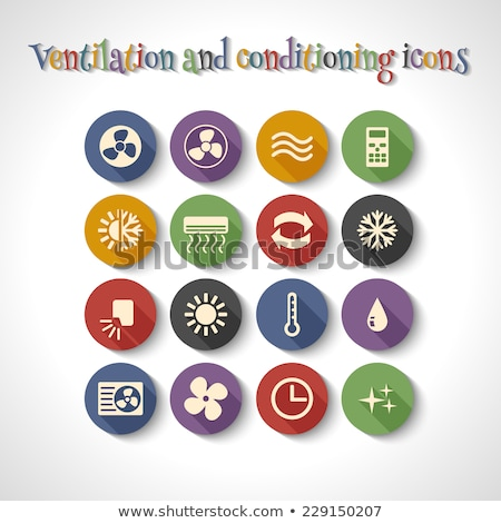air conditioner icons stickers stock photo © cteconsulting