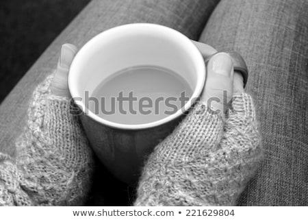 女性 · カップ · 茶 · コーヒー - ストックフォト © sarahdoow