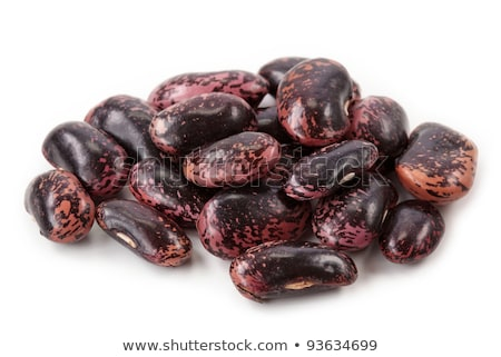 Runner bean seeds, isolated on a white background stock photo © sarahdoow