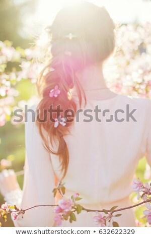 アジア · 女性 · 桜 · ツリー · 頭 · 肩 - ストックフォト © victoria_andreas