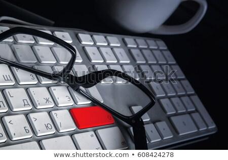 botão · teclado · chave · macio · foco · internet - foto stock © chesterf