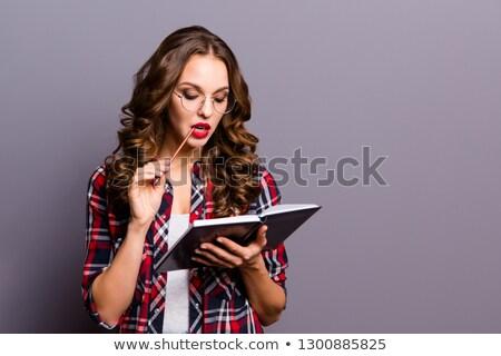 Mujer organizador negocios trabajo empresario Foto stock © photography33