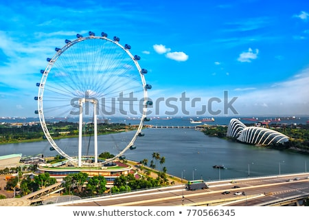Singapour flyer grande roue monde bâtiment Photo stock © joyr