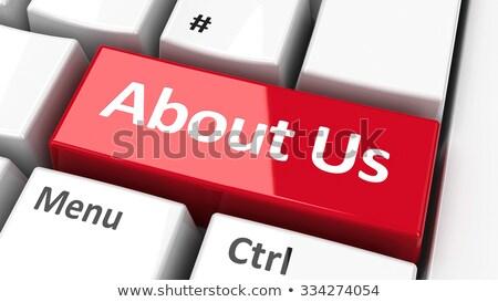 hakkımızda · ikon · dizayn · yardım · kırmızı · iletişim - stok fotoğraf © tashatuvango
