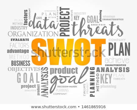 Stock photo: swot word tags