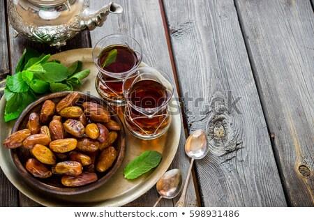 mint tea and dates Stock photo © M-studio