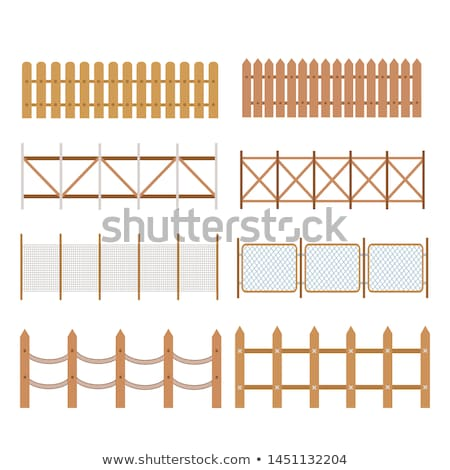 isolated rural wooden fence stock photo © vavlt