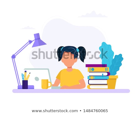 girl studying exams stock photo © kakigori