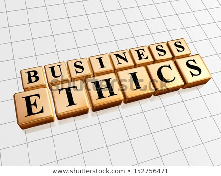 business ethics in golden cubes Stock photo © marinini